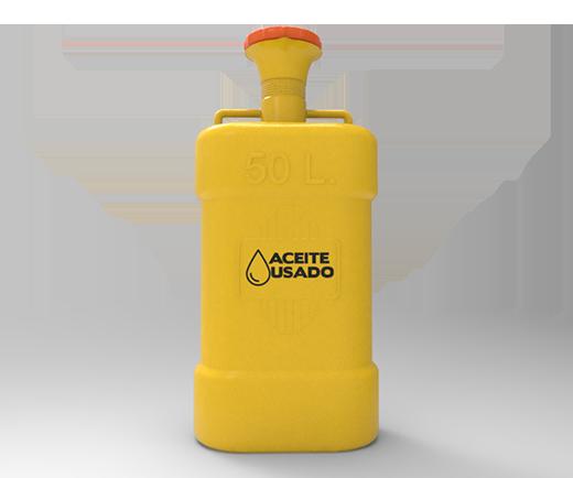 DESCRIPCIÓNFabricado en polietileno de media densidad, el cual reune las más altas condiciones de fluidez y resistencia a golpes y roturas.Producido mediante el proceso de rotomoldeo.Formado de una sola pieza.Boquilla en forma de embudo.2 manijas superiores para vaciado.Protección UV.Diseñado especialmente para residuos líquidos.Tapa con rosca para evitar derrames.FUNCIONALIDADEs ideal para contener aceite de auto o aceite comestible con el fin de llevarlo al proceso de reciclaje.Ideales para gasolineras, talleres mecánicos, industrias y supermercados.CARACTERÍSTICASCOLOR AMARILLO TAPA ROJACAPACIDAD 50 LITROSMEDIDAS:LARGO 38cm,ANCHO 25.6, cmALTO 97.5 cm