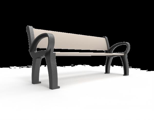 Fabricamos los soportes de las bancas con polietileno de media densidad 100% reciclado, utilizando materiales reciclados contribuimos a reducir la emisión de gases de efecto invernadero.