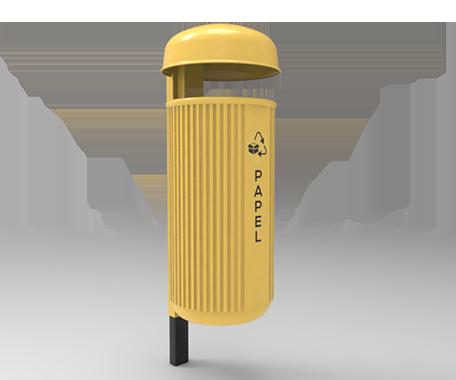 ESCRIPCIÓNLa papelera CR 60 fabricada en 2 piezas por el proceso de rotomoldeo, con polietileno de media densidad para darle mayor resistencia a impactos y evitar deformaciones.Protección a los rayos U.V.Resistencia a condiciones climáticas.Cuenta con llave de acceso para retirar los desechos.Abertura para depósito de 10 cm. entre el capuchón y el bote para evitar que depositen bolsas de un volumen mayor de 6 a 8 litros.Con cerradura para el vaciado.Poste opcional para empotrar al piso, para exhibición ó con placa para atornillar al piso.FUNCIONALIDADLa papelera CR 60 es ideal para usarse en exteriores.Se utiliza para depositar basura y a mantener limpios los espacios públicos.Ideal para vía publica.CARACTERÍSTICASCAPACIDAD: 60 Lts.COLORES: Verde, Azul, Gris.MEDIDAS:Diametro: 44.0 cm.Alto: 103.0 cm.FICHA TÉCNICA