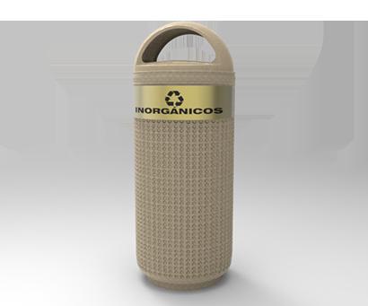 DESCRIPCIÓNPapelera DOMO 3 compuesta de 2 piezas, tapa y bote, fabricada en polietileno de media densidad, pared de 4 mm, mediante el proceso de rotomoldeo, para darle mayor resistencia a impactos y evitar deformaciones.Protección a los rayos UV.Resistencia a condiciones climáticas.Con o sin bote interno.Tapa con 2 entradas laterales.Tapa con bisagra.FUNCIONALIDADLa papelera DOMO 3 es ideal para usarse en interiores.En la separación de residuos.Ideal para depositar basura y para mantener limpios los espacios públicos.Son utilizadas como depósito temporal de residuos.Fácil de lavar.Evita focos de infección.Cuenta con un soporte en la base que impide su caída con el viento.CARACTERÍSTICASCAPACIDAD: 120 Lts.COLOR: Blanco Granito, Arena Gris y VerdeMEDIDAS:Ancho: 49.0 cm