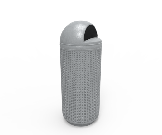 DESCRIPCIÓNPapelera DOMO 1 compuesta de 2 piezas, tapa y bote, fabricada en polietileno de media densidad, pared de 4 mm, mediante el proceso de rotomoldeo, para darle mayor resistencia a impactos y evitar deformaciones.Protección a los rayos UV.Resistencia a condiciones climáticas.Con o sin bote interno.Tapa con entrada superior.Tapa con bisagra.FUNCIONALIDADLa papelera DOMO 1 es ideal para usarse en interiores.En la separación de residuos.Ideal para depositar basura y para mantener limpios los espacios públicos.Son utilizadas como depósito temporal de residuos.Fácil de lavar.Evita focos de infección.Cuenta con un soporte en la base que impide su caída con el viento.CARACTERÍSTICASCAPACIDAD: 120 Lts.COLOR: Blanco Granito, Arena Gris y VerdeMEDIDAS:Ancho: 49.0 cm