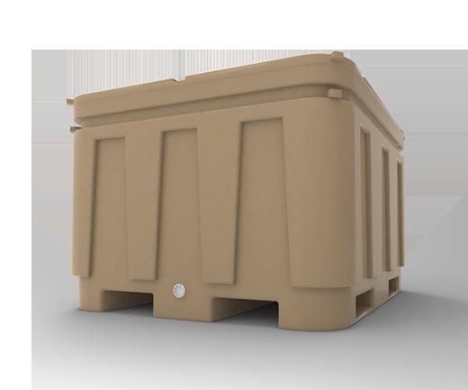 DESCRIPCIÓNEl contenedor Isotérmico 600 está fabricado con polietileno de media densidad para darle mayor resistencia a fuertes impactos y a las condiciones del clima.Resistente a cualquier tipo de trato bajo las condiciones más severas.Con protección a los rayos U.V.Entrada para montacargas.Con un máximo de 3 estibas.Tapón roscado de desagüe.Esquinas internas redondeadas para no acumular producto o agua.Con relleno de espuma de poliuretano como aislante térmico para conservar una temperatura adecuada 3 a 4 días.Tapa desmontable y de cierre hermético.FUNCIONALIDADEl contenedor está diseñado para el depósito de productos que requieran una temperatura estable.Adecuado para el manejo, tratamiento, almacenaje y transporte de todo tipo de producto que se necesite conservar en las mejores condiciones.CARACTERÍSTICASCAPACIDAD: 600 ltsCOLOR: Beige.PESO APROX: 50.0 Kg.MEDIDAS:Largo superior: 123.0 cm.Ancho superior: 108.0 cm.Largo inferior: 119.5 cm.Ancho inferior: 103.0 cm.Alto: 76.0 cm.
