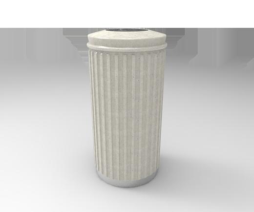 DESCRIPCIÓNCompuesta de 2 piezas; tapa y bote, fabricada en polietileno de media densidad, mediante el proceso de rotomoldeo, para darle mayor resistencia a impactos y evitar deformaciones.Resistencia a condiciones climáticas.2 opciones: como papelera con acceso superior ó lateral y cenicero superior con arena.La abertura para los residuos es por un costado de la misma.Ambas están diseñadas para evitar que depositen bolsas de gran tamaño.Tapa superior desmontable.Base de anillo de acero inoxidable.FUNCIONALIDADEl principal objetivo de ORNAMENTAL 75 es para ser colocada en interiores.Son decorativas.No necesitan de gran mantenimiento.Son ideal para el acopio temporal de residuos sólidos.El vaciado se realiza solo levantando la tapa e inclinar el bote.CARACTERÍSTICASCAPACIDAD: 75 Lts.PESO VACÍO: 7 kg.COLORES: Negro, Azul y Blanco.MEDIDAS:Diámetro: 40.0 cm.Alto: 83.0 cm.DiámetroAbertura Papelera: 21.0 cm.Abertura Cenicero: 17.0 cm.