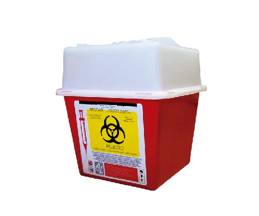 """DESCRIPCIÓNEl PC-2 es un Recolector rigido de polipropileno, con un contenido de metales pesados de no mas de 1 PXM, libre de cloro, desechable para residuos punzocortantes.Con tapas de seguridad para las Aberturas.Esterilizable, incinerable y no contaminante.Resistente a fracturas y pérdida de contenido al caerse, destructible por medios fisicos,Resistencia mínima de penetración en punzocortantes es de 12.5 N en todas sus partes.Con separador de agujas y abertura para el depósito deotros punzocortantes.Etiquetado con la leyenda """"RESIDUOS PELIGROSOS PUNZOCORTANTES, BIOLÓGICOS"""" y marcado con el símbolo universal de """"Riesgo Biológico"""".De acuerdo a la NOM-087-ECOL-SSA1-2002.FUNCIONALIDADEl PC-2 es utilizado para la recolección y desecho de punzocortantes garantizando la disposición final de riesgo biológico.Los recipientes para los residuos peligrosos punzocortantes se llenarán hasta el 80% (ochenta por ciento) de su capacidad, asegurándose los dispositivos de cierre y no deberán ser abiertos o vaciados.CARACTERÍSTICASCOLOR: Rojo.CAPACIDAD: 0.94 a 2.80 LtsMEDIDAS:Largo: 16.0 cm.Ancho: 16.0 cm.Alto: 18.0 cmMARCA: A1"""