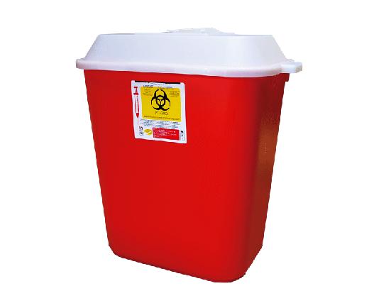 """DESCRIPCIÓNEl PC-30 es un Recolector rígido de polipropileno, con un contenido de metales pesados de no mas de 1 PXM, libre de cloro, desechable para residuos punzocortantes.Con tapas de seguridad para las Aberturas.Esterilizable, incinerable y no contaminante.Resistente a fracturas y pérdida de contenido al caerse, destructible por medios físicos,Resistencia mínima de penetración en punzocortantes es de 12.5 N en todas sus partes.Con separador de agujas y abertura para el depósito de otros punzocortantes.Etiquetado con la leyenda """"RESIDUOS PELIGROSOS PUNZOCORTANTES, BIOLÓGICOS"""" y marcado con el símbolo universal de """"Riesgo Biológico"""".De acuerdo a la NOM-087-ECOL-SSA1-2002.FUNCIONALIDADEl PC-30 es utilizado para la recolección y desecho de punzocortantes garantizando la disposición final de riesgo biológico.Los recipientes para los residuos peligrosos punzocortantes se llenarán hasta el 80% (ochenta por ciento) de su capacidad, asegurándose los dispositivos de cierre y no deberán ser abiertos o vaciados.CARACTERÍSTICASCOLOR: Rojo.CAPACIDAD: 26.0 a 30.20 Lts.MEDIDAS:Largo: 42.0 cm.Ancho: 27.0 cm.Alto: 43.0 cm.MARCA: CIUDALIMP"""