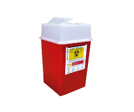 """DESCRIPCIÓNEl PC-4 es un Recolector rígido de polipropileno, con un contenido de metales pesados de no mas de 1 PXM, libre de cloro, desechable para residuos punzocortantes.Con tapas de seguridad para las Aberturas.Esterilizable, incinerable y no contaminante.Resistente a fracturas y pérdida de contenido al caerse, destructible por medios físicos.Resistencia mínima de penetración en punzocortantes es de 12.5 N en todas sus partes.Con separador de agujas y abertura para el depósito de otros punzocortantes.Etiquetado con la leyenda """"RESIDUOS PELIGROSOS PUNZOCORTANTES, BIOLÓGICOS"""" y marcado con el símbolo universal de """"Riesgo Biológico"""".De acuerdo a la NOM-087-ECOL-SSA1-2002.FUNCIONALIDADEl PC-4 es utilizado para la recolección y desecho de punzocortantes garantizando la disposición final de riesgo biológico.Los recipientes para los residuos peligrosos punzocortantes se llenarán hasta el 80% (ochenta por ciento) de su capacidad, asegurándose los dispositivos de cierre y no deberán ser abiertos o vaciados.CARACTERÍSTICASCOLOR: Rojo.CAPACIDAD: 3.75 a 4.75 Lts.MEDIDAS:Largo: 16.0 cm.Ancho: 16.0 cm.Alto: 27.0 cm.MARCA: Cidalimp"""