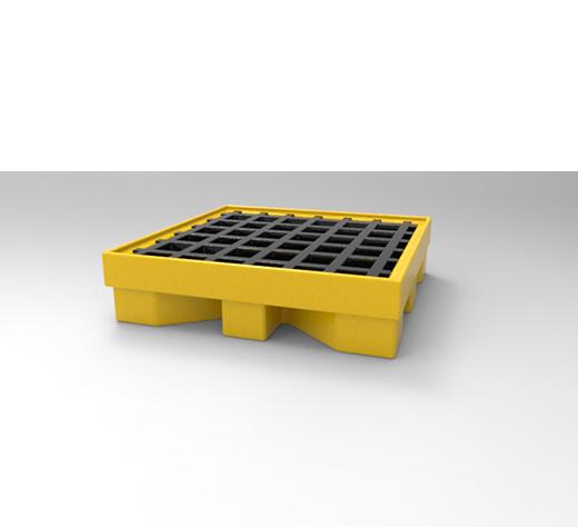 DESCRIPCIÓNPlataforma PLAT1-200 construida de polietileno de media densidad,lo cual le da la propiedad de absorber fuertes impactos y no deformarse, fabricada mediante el proceso de rotomoldeo.Con protección a los rayos UV.Resistente a las condiciones del clima.Conformada de dos piezas, base y rejillas.Plataforma antiderrame, la placa superior esta acanalada esto para la recolección de líquidos.Placa superior acanalada para la recolección de líquidos.Relieve inferior para movimiento y traslado con montacargas.Apilable.Tapón de descarga.No permitido para almacenar líquidos inflamables.Alta resistencia a los ácidos, lejías, aceites y otras sustancias peligrosas agresivas.Bajo peso propio, fácil manipulación.FUNCIONALIDADLa PLAT1-200 se utiliza principalmente en las industrias, lugares de acopio, almacenes.Ideal para la estiba de tambos de 200 lts. o piezas que escurran líquidos aceitosos.De gran uso en la industria química, alimenticia, siderúrgica y automotriz.Se ocupan para tener bien organizados los tambos y haya un mejor movimiento y traslado.Diseñadas especialmente para contener derrames en depósitos y playas de carga y descarga.CARACTERÍSTICASCAPACIDAD: Un tambo de 200 Lts.CAPACIDAD DE RECOLECCIÓN: 41 Lts.PESO: 11 kg.COLOR: Amarillo, rejilla negra.MEDIDAS:Largo: 66 cm.Ancho: 65.5 cm.Alto: 16 cm.