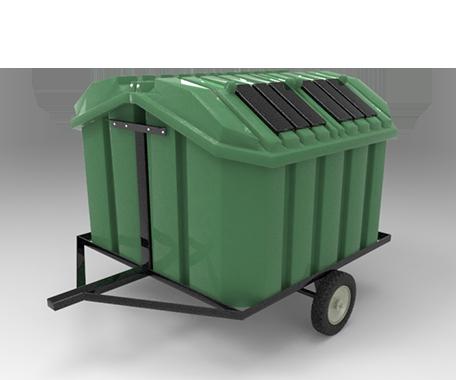 """DESCRIPCIÓNEl Remolque está compuesto de 2 contenedores Vic-2000 fabricado de polietileno de media densidad, mediante el proceso de rotomoldeo.Montados sobre una estructura metálica.2 llantas neumáticas de 15"""" para un fácil traslado.Se requiere unidad o vehículo para remolcar.Con protección a los rayos UV.Diseñados para uso rudo.Sujetos uno a espaldas del otro.Cuenta con un contenedor interno.FUNCIONALIDADEl Remolque Vic-2000 está diseñado para el deposito de residuos.El vaciado puede ser por cualquier sistema de elevación.Fácil de lavar.Sin bordes e impurezas para facilitar la limpieza y el vaciado.Evita malos olores y focos de infección.CARACTERÍSTICASCAPACIDAD TOTAL: 4000 Lts.PESO: 260 Kg.MEDIDAS TOTALES DELREMOLQUE con CONTENEDORES:Alto: 161.0 cmAncho de 2 contenedores: 182.0 cmLargo: 234.0 cm"""